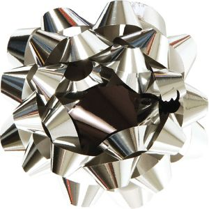 Silver Graduation Gift Bow