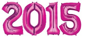 Pink 2015 Number Balloons
