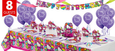 Rainbow Hello Kitty Super Party Kit for 8 Guests