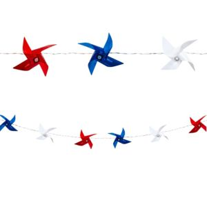 Patriotic Pinwheel String Lights