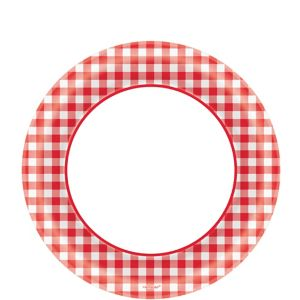 Picnic Party Red Gingham Lunch Plates 40ct