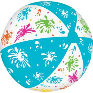 Turquoise & Clear Beach Ball