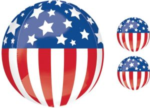 Patriotic Balloon - Orbz