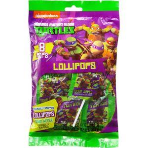 Teenage Mutant Ninja Turtles Lollipops 8ct