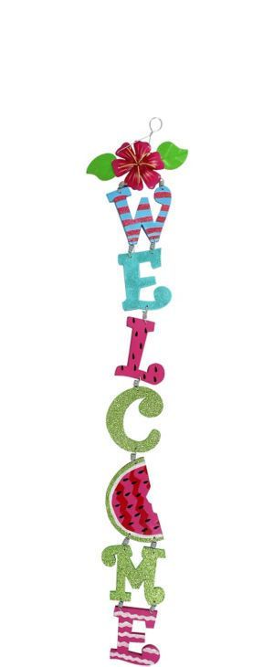 Summer Hanging Welcome Sign
