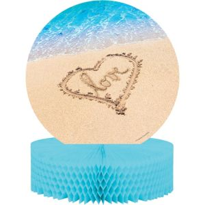 Beach Love Wedding Honeycomb Centerpiece