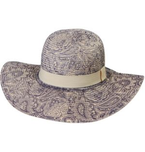 Paisley Floppy Straw Hat