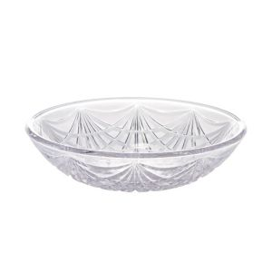 CLEAR Plastic Crystal Cut Bowl
