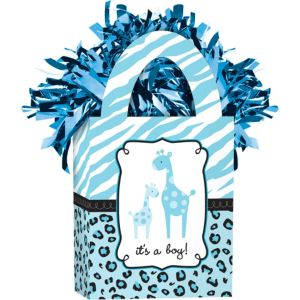 Blue Safari Baby Shower Balloon Weight
