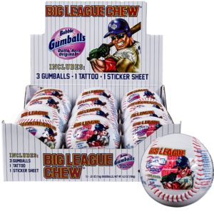 Big League Chew Plastic Baseball 5.3oz 12ct