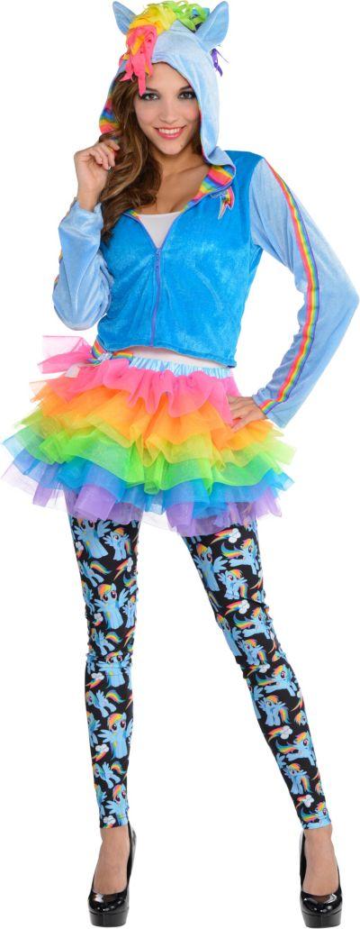 Adult Cozy Rainbow Dash Costume - My Little Pony