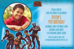 Custom Star Wars Rebels Photo Invitations