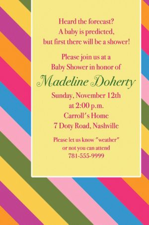 Custom Diagonal Stripe Warm Invitations