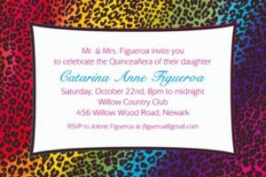 Custom Wild Leopard Invitations