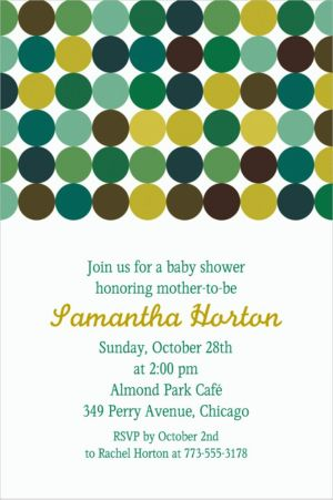 Custom Dotty Cool Invitations