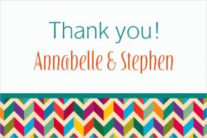 Custom Multi-Chevron Thank You Notes