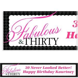 Custom Fabulous & Thirty Banner 6ft