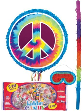Tie-Dye Peace Sign Pinata Kit