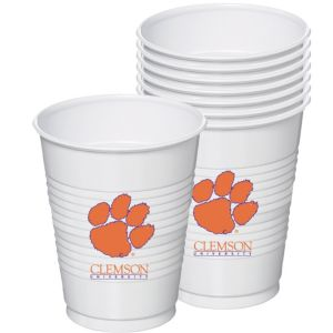 Clemson Tigers Plastic Cups 8ct
