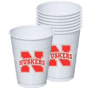 Nebraska Cornhuskers Plastic Cups 8ct