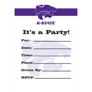 Kansas State Wildcats Invitations 8ct