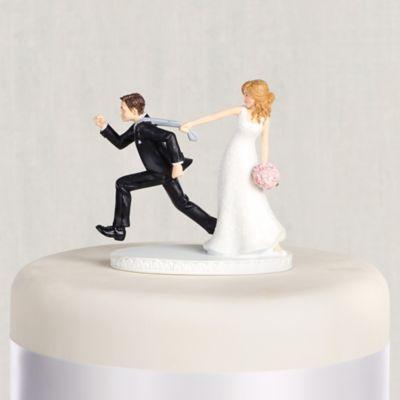 Tie Puller Bride Groom Wedding Cake Topper 4 1 8in Party City