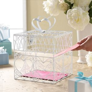 Heart Metal Wedding Card Holder Box