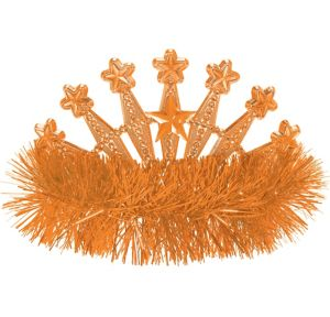 Orange Star Tinsel Tiara