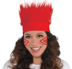 Red Crazy Hair Headband