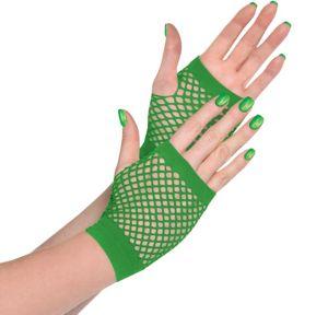 Green Fishnet Glovelettes