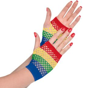 Rainbow Fishnet Glovelettes