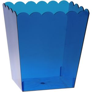 Large Royal Blue Plastic Scalloped Container