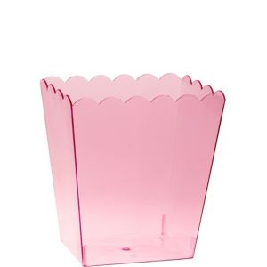 Small Pink Plastic Scalloped Container