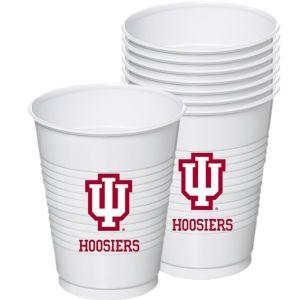 Indiana Hoosiers Plastic Cups 8ct
