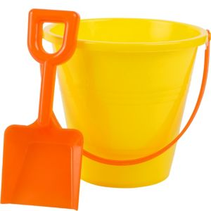 Yellow Beach Pail with Shovel