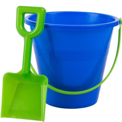 Blue Beach Pail 5in With Shovel Party City