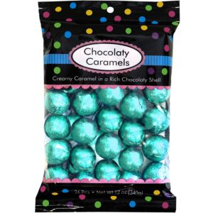 Robin's Egg Blue Caramel Balls 26pc