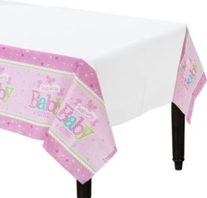 Welcome Baby Girl Baby Shower Table Cover