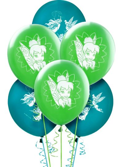 Tinker Bell Balloons 6ct