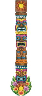 jointed tiki totem cutout 72in party city rh partycity com