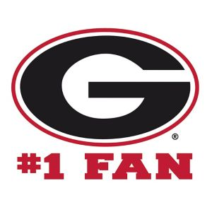 Georgia Bulldogs #1 Fan Decal