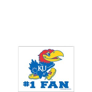 Kansas Jayhawks #1 Fan Decal