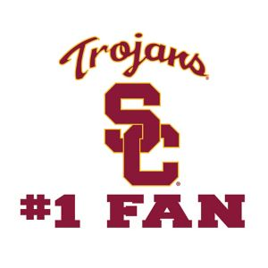 USC Trojans #1 Fan Decal