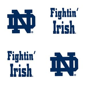 Notre Dame Fighting Irish Face Tattoos 4ct