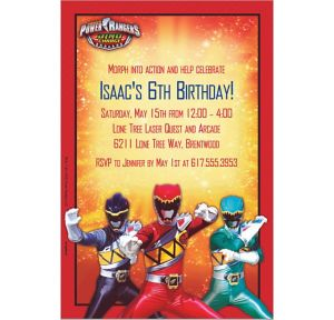 Custom Power Rangers Dino Charge Invitations