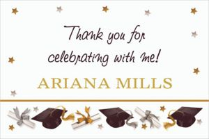 Custom Festive Grad Thank You Notes