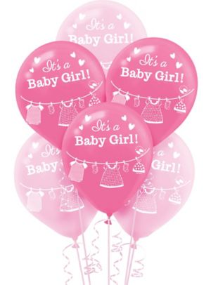 It's a Girl Baby Shower Balloons 15ct
