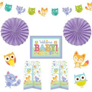 Woodland Baby Shower Room Decorating Kit 10pc
