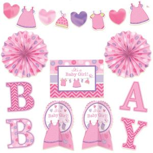 It's a Girl Baby Shower Room Decorating Kit 10pc