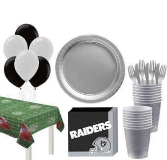 Oakland Raiders Super Party Kit for 18 Guests